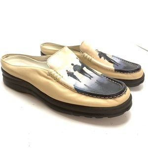 ICON Leather Dancer Art to Wear Mules Shoes sz 9